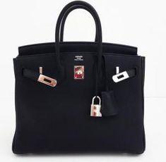 Hermes Birkin 25 Black Togo Bag as seen on Kourtney Kardashian