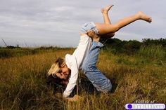 way cute. engagement pic. Head over heels