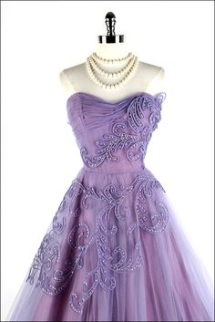 50's dress with roulette and beading