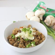 Mushroom Quinoa Risotto from Living Well Kitchen