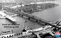 Rotterdam: De Bouw van de nieuwe Willemsbrug in 1981