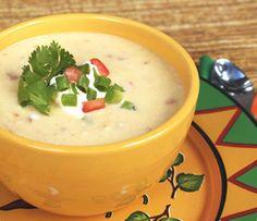 Sopa de Queso, Brócoli y Pollo