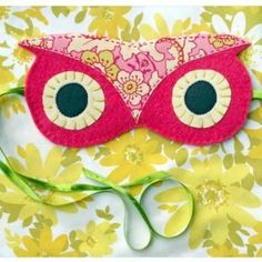 The CUTEST eye mask I've ever seen.  I wish I had two - one for at home and one for travel.  It would be even 'cooler' if you could velcro a removable gel eye mask (to refrigerate beforehand) on the backside of the eye mask to simultaneously refresh your eyes while also blocking out light.  I buy my gel eye masks at Target, so the owl eye mask would need to be made according to the size of the gel eye mask underneath.