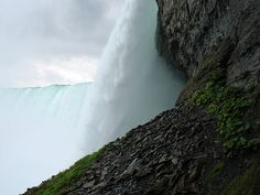 a view from under the falls