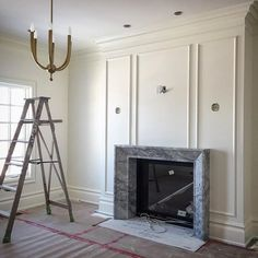 All the fun stuff is beginning to get installed at #aldredresidence like this custom #marble fireplace mantel by @alberta_marble_and_tile_co_ltd. #bedroom #design #interiors #interiordesign by #namdangmitchell #missionhomes