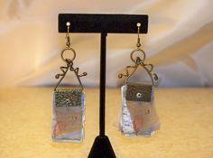 """Steampunk style Earrings!!! """"Travel Journal"""""""