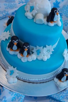 another penguin cake