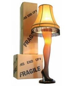 Buy online Latest A Christmas Story   This beautiful 45-inch Full Size Leg Lamp has the authentic look of the leg lamp featured in A Christmas Story. This Leg Lamp has a sleek attractive curve and design to the leg. It also show cases a golden gallery shade with black fringe, a sexy fishnet stocking, and an elegant stiletto heel. Sure to be the center piece of any front room window. The leg and socket under the lampshade light up independently or together and are controlled by one 3-way…
