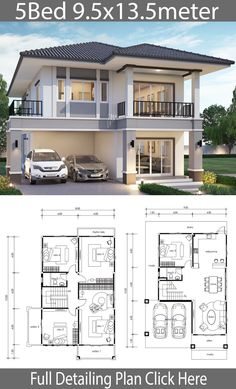 Free Modern House Plans Awesome 5 Free Diy Tiny House Plans to Help You Live the Small – Home Design 2 Storey House Design, Duplex House Plans, Bungalow House Design, Bedroom House Plans, Dream House Plans, Small House Plans, Modern House Design, House Floor Plans, House Plans Mansion