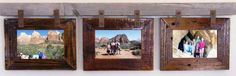 """Barnwood Montana Collage picture Frame for 3 4"""" X 6"""" Photos"""