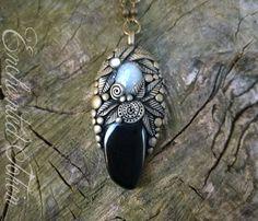 Elegante Collana con Ossidiana Arcobaleno e Pietra di Luna Arcobaleno per la gioia e la protezione