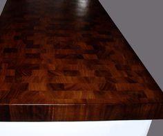 Brazilian cherry end grain butcher block countertop