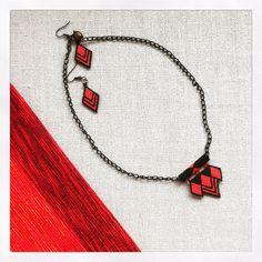 Miyuki Necklace Valentine's Day Gift Handmade Miyuki Beads Necklace Geometric Triangle FREE SHIPPING by HeartBeadHeartBead on Etsy