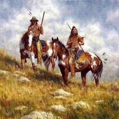 James Ayers Artist | Keepers of the Prairie (Crow), James Ayers original painting, 2008 ...