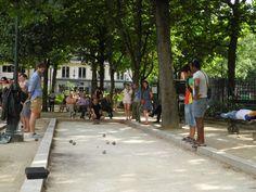 Petanque (or boules) court in Square Emile Chautemps