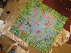 Healing Ceilings...Great project in Raleigh, NC to paint art on the ceiling tiles for those on their backs (during chemo or testing) to enjoy.  check out Healing Ceilings on FB.