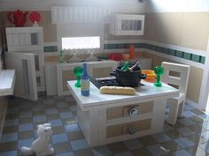 legos: Interiors For A Doll House This looks incredible. Really nice job! Hama Beads Minecraft, Lego Minecraft, Lego Lego, Perler Beads, Minecraft Buildings, Lego Design, Legos, Lego Kitchen, Lego Food