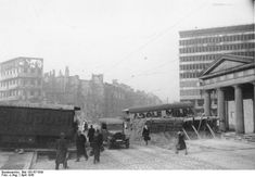 Roadblocks at Potsdamer Platz.. April, 1945