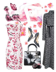 """""""Flowers ..."""" by jojona-1 ❤ liked on Polyvore featuring Precis Petite, Paul Andrew and Christian Dior"""