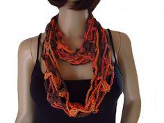 Crochet Necklace, Amazon, Jewelry, Style, Fashion, Fashion Styles, Jewelry Dish, Scarf Crochet, Arts And Crafts