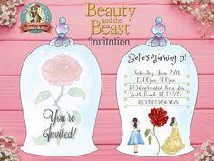 Beauty and the Beast Invitation Belle Invitation Belle Personalized Invitations, Digital Invitations, Decoration, Beauty And The Beast, Shopping, Business, Disney, Decor, Dekoration