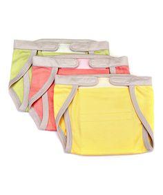 Loving this Pastel Organic Cloth Diaper Set on #zulily! #zulilyfinds