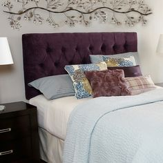 Humble + Haute Hampton Plum Queen Diamond Tufted Headboard | Overstock.com Shopping - Big Discounts on Headboards