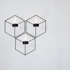 Menu - POV Wand-Teelichthalter, schwarz - Gruppe, Ambientebild