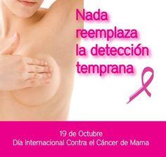 19 DE OCTUBRE DIA DEL CANCER DE MAMA ,SALVEMOS NUESTRAS VIDAS ,HAGAMOS NUESTRO EXAMEN ANUAL.