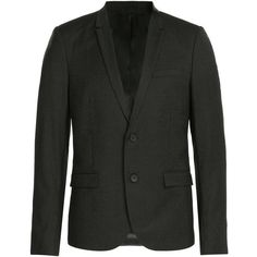 The Kooples Pinstriped Wool Blazer (28.890 RUB) ❤ liked on Polyvore featuring men's fashion, men's clothing, men's sportcoats and black