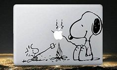 Snoopy---Macbook Decal Mac book Stickers Macbook Decals Apple Decal for Macbook Pro / Macbook Air / iPad / / iPhone via Etsy. Calcomanía Macbook, Coque Macbook, Mac Stickers, Mac Decals, Macbook Decal Stickers, Apple Stickers, Laptop Decal, Vinyl Decals, Mac Laptop