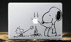 Snoopy---Macbook Decal Mac book Stickers Macbook Decals Apple Decal for Macbook Pro / Macbook Air / iPad / / iPhone via Etsy. Mac Stickers, Mac Decals, Macbook Decal Stickers, Apple Stickers, Vinyl Decals, Calcomanía Macbook, Coque Macbook, Macbook Pro Decal, Laptop Decal