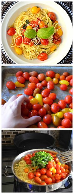 Roasted Tomato Pasta so easy and delicious. Perfect for #MeatlessMonday