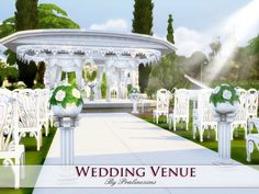 The Sims Resource: Wedding Venue by Praline Sims • Sims 4 Downloads