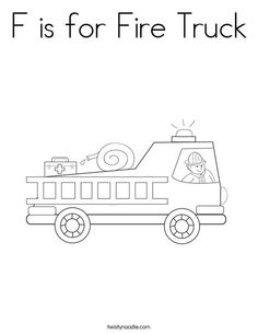 F for Fire Truck Worksheet from