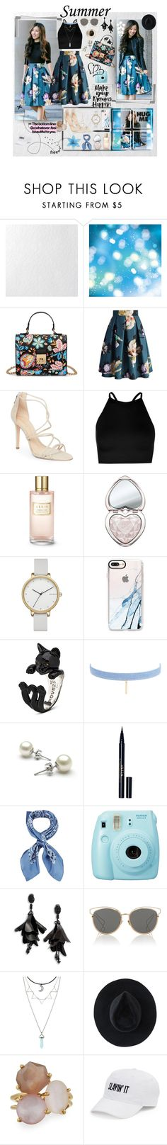 """summer👡🌞"" by olivia204 ❤ liked on Polyvore featuring Graham & Brown, Chicwish, Schutz, Boohoo, Estée Lauder, Too Faced Cosmetics, Skagen, Casetify, Jules Smith and Stila"