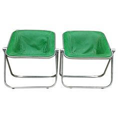Vintage Aluminum and Leather Plona Chairs - Pair on Chairish.com