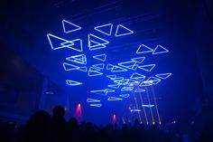 Amazing kinetic lighting sculpture