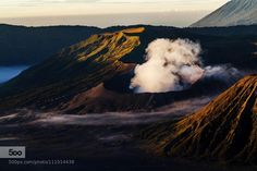 Morning Light on Volcano by amdprasad #photo