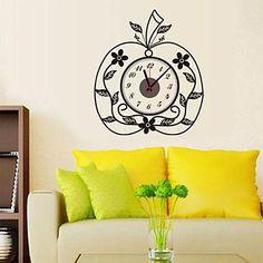 perete autocolante ceas decalcomanii de perete, creative autocolante de perete de mere pvc – EUR € 14.99