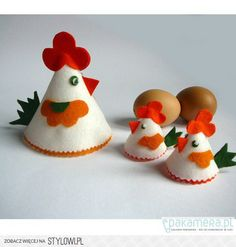 Easter home decorations - Page 3 - Styles - Interior design - Infor. Hobbies And Crafts, Crafts To Sell, Diy And Crafts, Crafts For Kids, Easter Projects, Easter Crafts, Felt Christmas, Christmas Crafts, Fabric Wall Decor