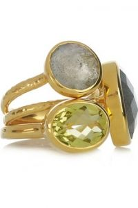 Monica Vinader Gold-plated stackings rings