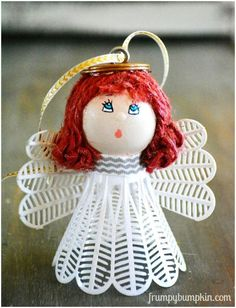 diy angel birdie ornaments, christmas decorations, crafts, how to, repurposing upcycling, seasonal holiday decor