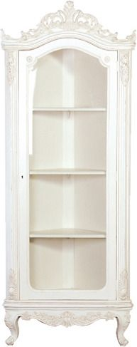 Chateau White Glazed Corner Cabinet from Alexander and Pearl