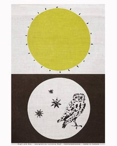 """Night and Day Irish linen tea towel by Lucienne Day, 28.75"""" x 18.75"""", $40; textilemuseumshop.org"""