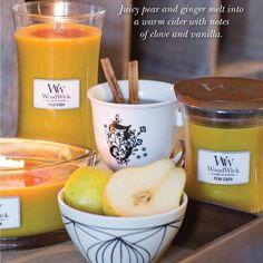 PEAR CIDER! En voilà un parfum alléchant! On en mangerait! 🍐 #woodwick #woodwickcandle #pear #poire #cidre #gourmandise #vanille #ellipse #hourglass #bougieparfumée #bougie #fruit #fruity #saladefruit