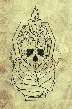 coffin tattoo - Google Search
