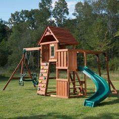 Swing N Slide Playsets Cedar Brook Wood Complete Playset Multi
