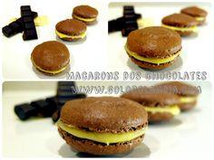 como hacer Macarons dos chocolates en casa de manera fácil Fácil y deliciosa receta paso a paso, de estas galletas caseras.  http://www.golosolandia.com/2014/12/macarons-dos-chocolates.html