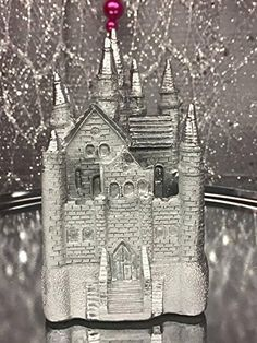 Silver Fairytale Castle Wedding Sweet 16 Birthday All Occasion Cake Topper or Party Favor Keepsake